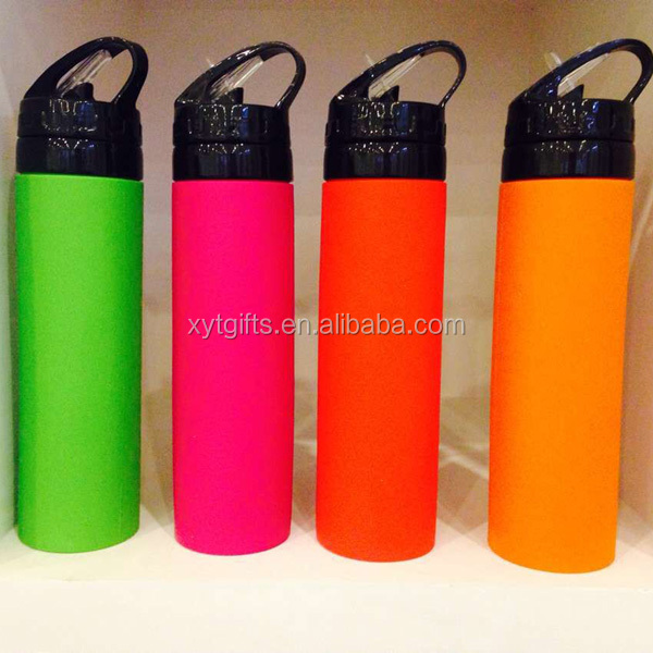 600ml Foldable Silicone Travel Bottle, Bpa Free Reusable Collapsible Silicone Bottle