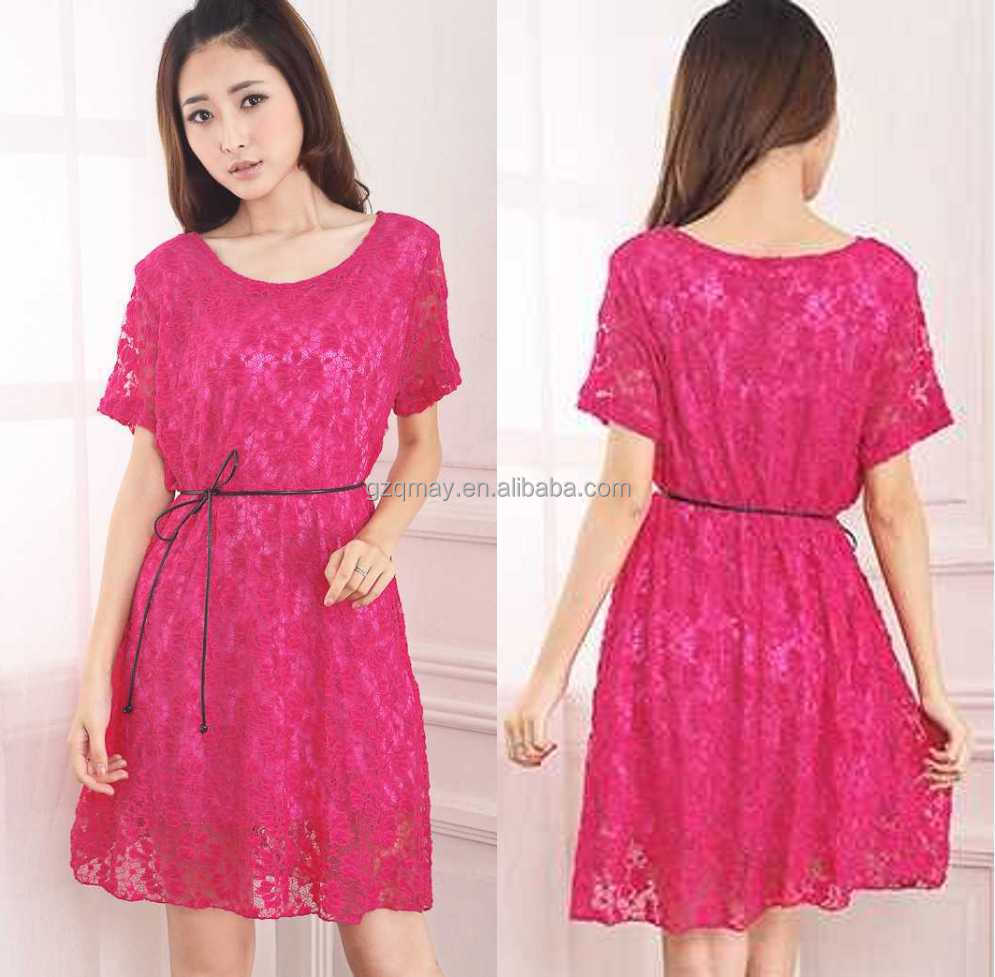 China Factory OEM/ODM Service Dresses O Neck Designs Pictures For Girls Dresses