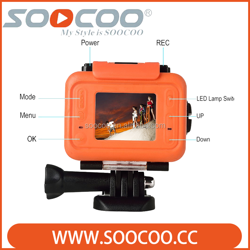 SOOCOO S70 2K Waterproof outdoor Sports Camera with Watch Remote Control(Add 1 Memory card)