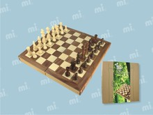 wooden handmade chess set box game chess board