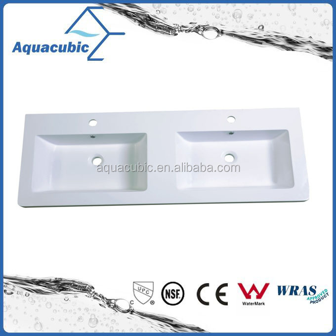 High quality artificial stone double bowl solid surface basin