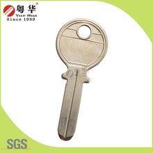 Good price brass material with golden color kapa designer key blanks for safe door lock from China 27 years key blank factory