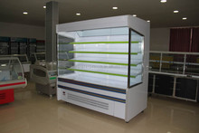 Convience store open cooler for vegetables