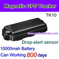 800 days work time magnetic car gps tracker