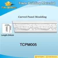 PU Carved Panel Mouldings for ceiling and wall decoration TCPM005