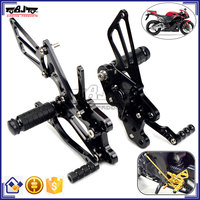 Top Quality Black CNC Billet Racing Rearset Foot Pegs Motorcycle Rear Sets For Honda CBR600RR 2007-2015
