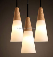 New Wood Iron Modern Northern Europe Wooden Pendant Lights