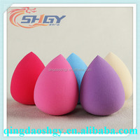 cute beauty foundation type latex free powder puff makeup sponge wholesale with box