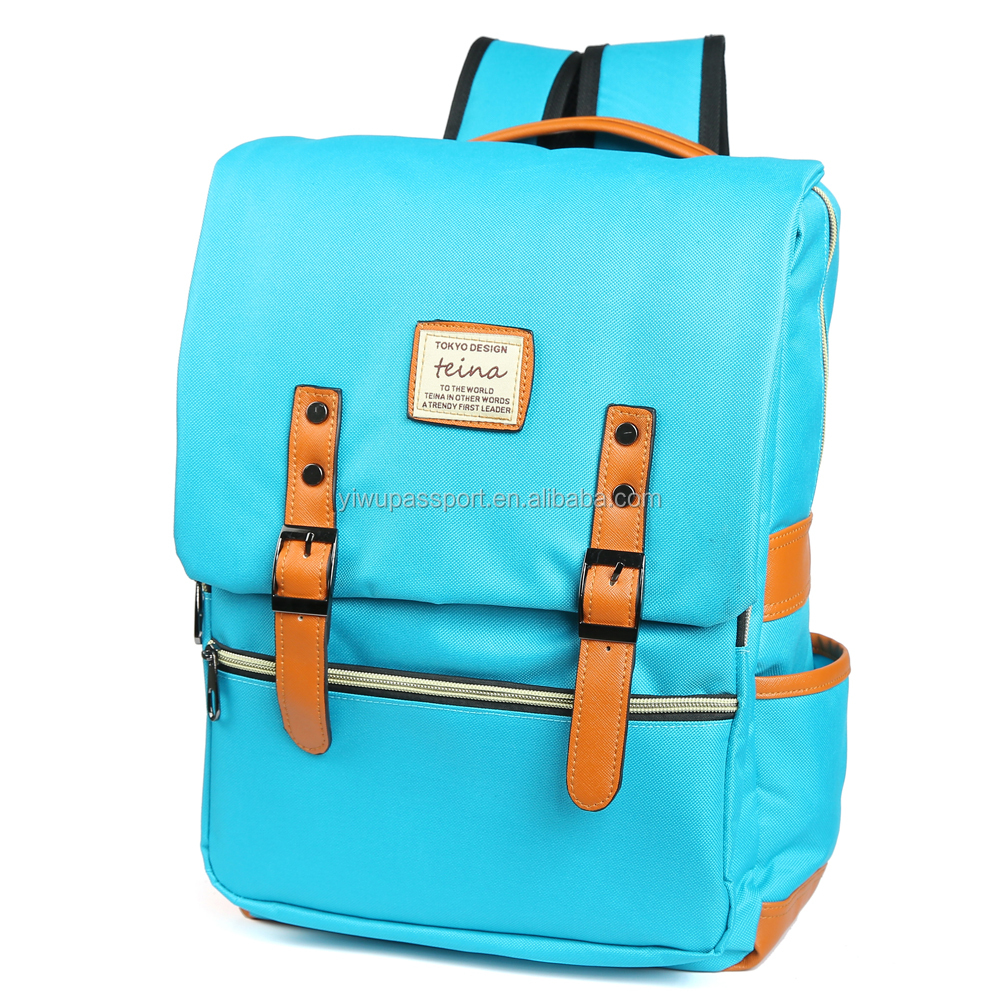 Stylish Unisex Laptop BackPack for School and Travel Light Blue