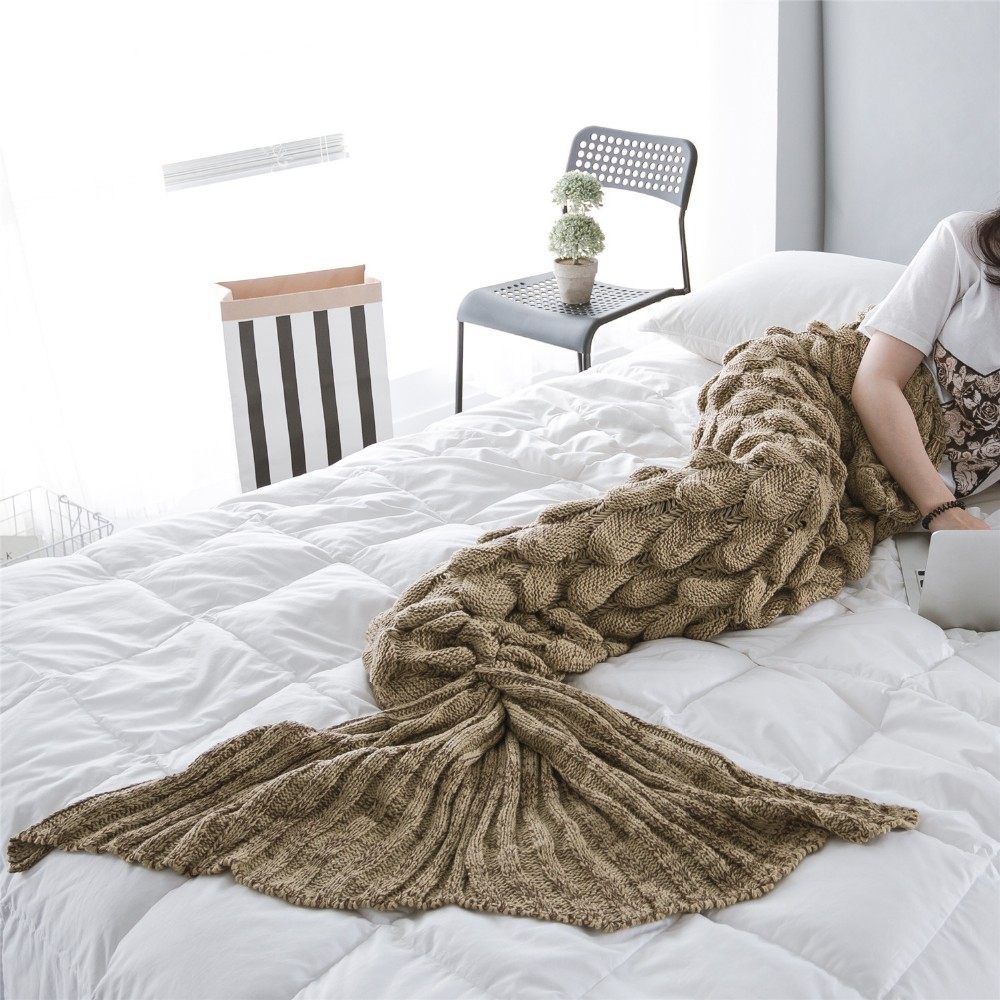 sleeping bags printed fish scale mermaid Tail Blanket