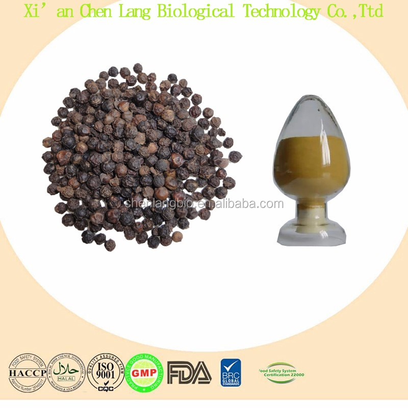 Brownish Yellow or White Powder Black Pepper Extract Piperine 10%~98%