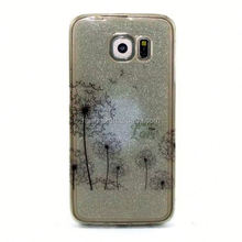 For Samsung Galaxy S6 Edge Soft TPU Case ,Dandelion Color Painting Case for Samsung Galaxy S6 Edge