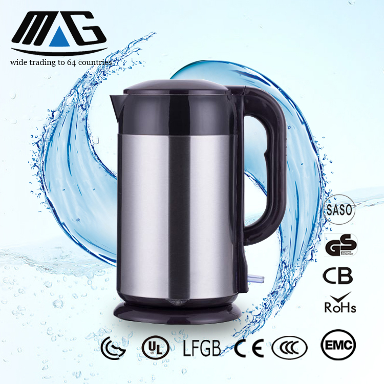 new product 1.8l red cordless ABS plastic electric kettle
