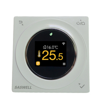 Modern Touchscreen 5+1+1 Day Programmable Central Air Conditioning 2-pipe Thermostat Microprocessor-based con Hvac Control