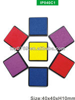 Colorful Square Stamp Ink Pad 40mm