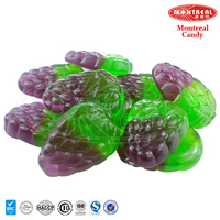 Colorful gummy sweet jelly grape candy