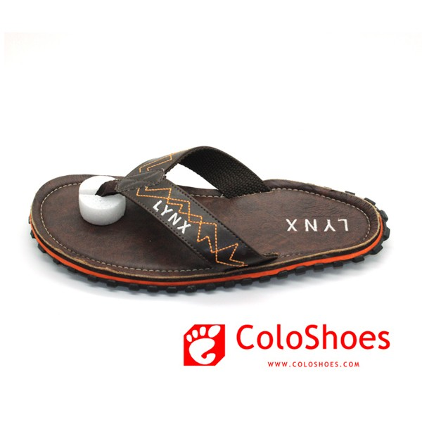 Coface Nude Chinese PU Men Slippers