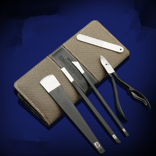 Professional 5pcs Nail Art Kits Stainless Steel Manicure Pedicure Set for personal care