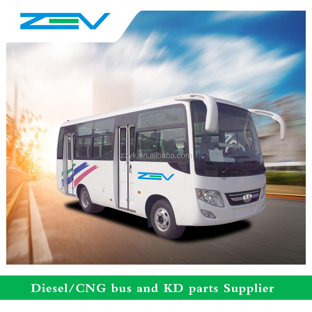 China 6m cheap price used diesel engine mini bus with foldable seats