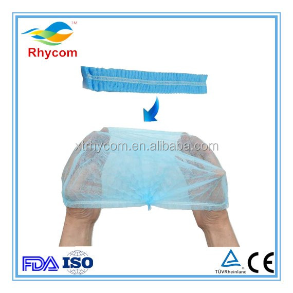 Disposable non woven single&double elastic mob cap soft strip cap hospital,laboratory daily use
