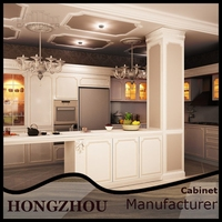 Alibaba China Ready Made Simple Solid Wood Kitchen For sale