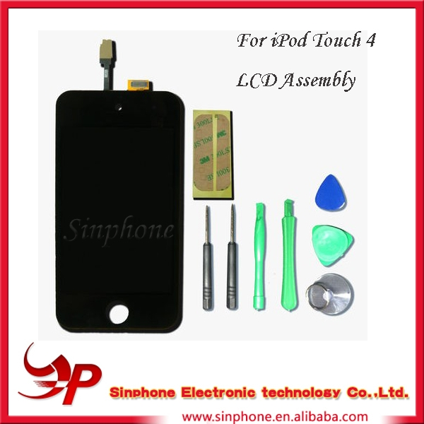 Replacement LCD Assembly w/ Home Button with tools For iPod 4