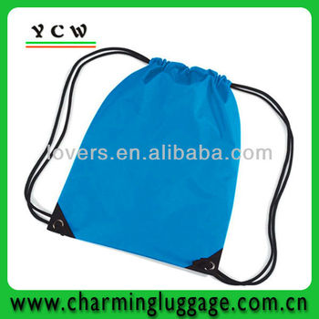 100% Polyester small drawstring backpack bag