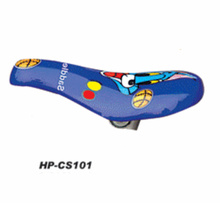 kid bicycle spare parts, children bicycle parts and accessories cartoon sticker blue color child seat baby bike saddle