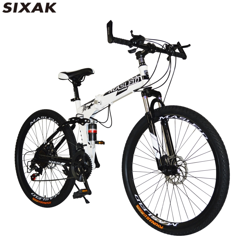 variable speed 26 inch steel frame folding bicycle mountain bike for men