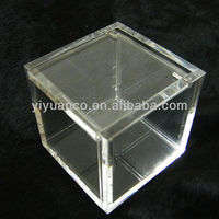 Small Acrylic Box With Hinged Lids