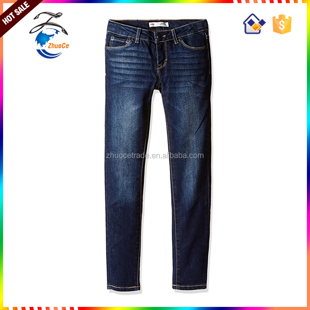 2017 hot sale basic regular young style slim fit womens jeans