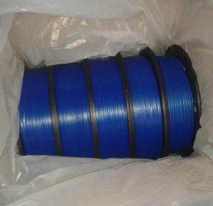 blue plastic twist tie/bag closure for bread bag/packaging plastic wire