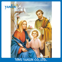 Religious spiritual belief 3d picture of the holy family