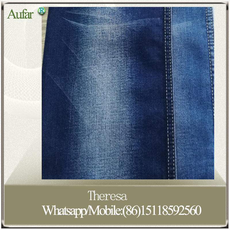 Wholesale satin TR denim jeans fabric for Mexcio