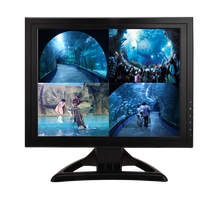 1280*1024 resolution 4 split screeen LCD CCTV monitor 17 inch CCTV monitor with VGA BNC*4 DC 12V input