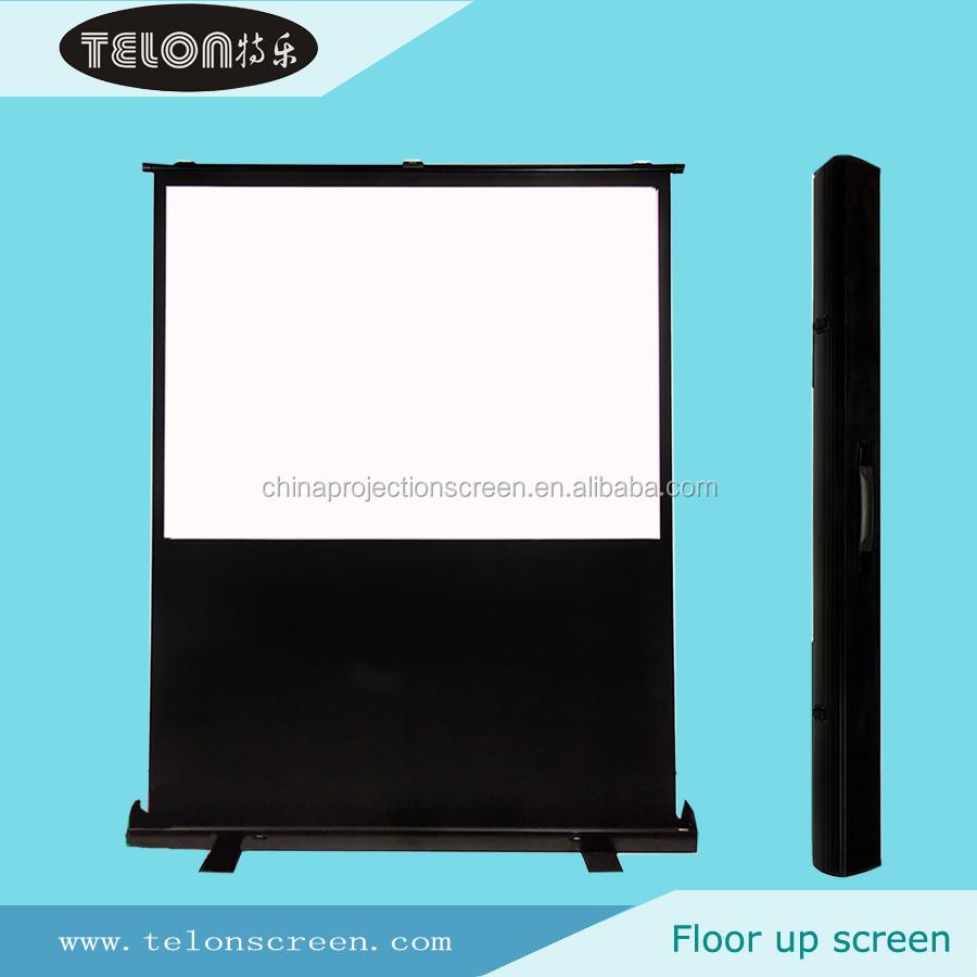 Telon portable floor up screen floor pull up screen floor for Motorized floor up screen