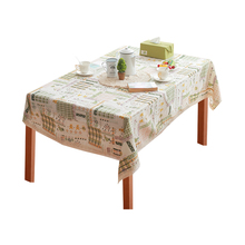 Decorative table cover handmade cotton linen pastoral green style kitchen tablecloth