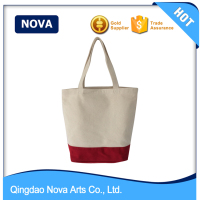 Two tone canvas travel expandable file tote bag
