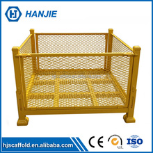 Stacking 4.8-10mm wire mesh box custom collapsible metal pallet cage