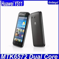 "Huawei Y511 4.5"" inch MTK6572 Dual core 1331MHz Android 4.2 smart phone 512MB RAM 4GB ROM 854x480 pixels Dual Sim Card Huawei"