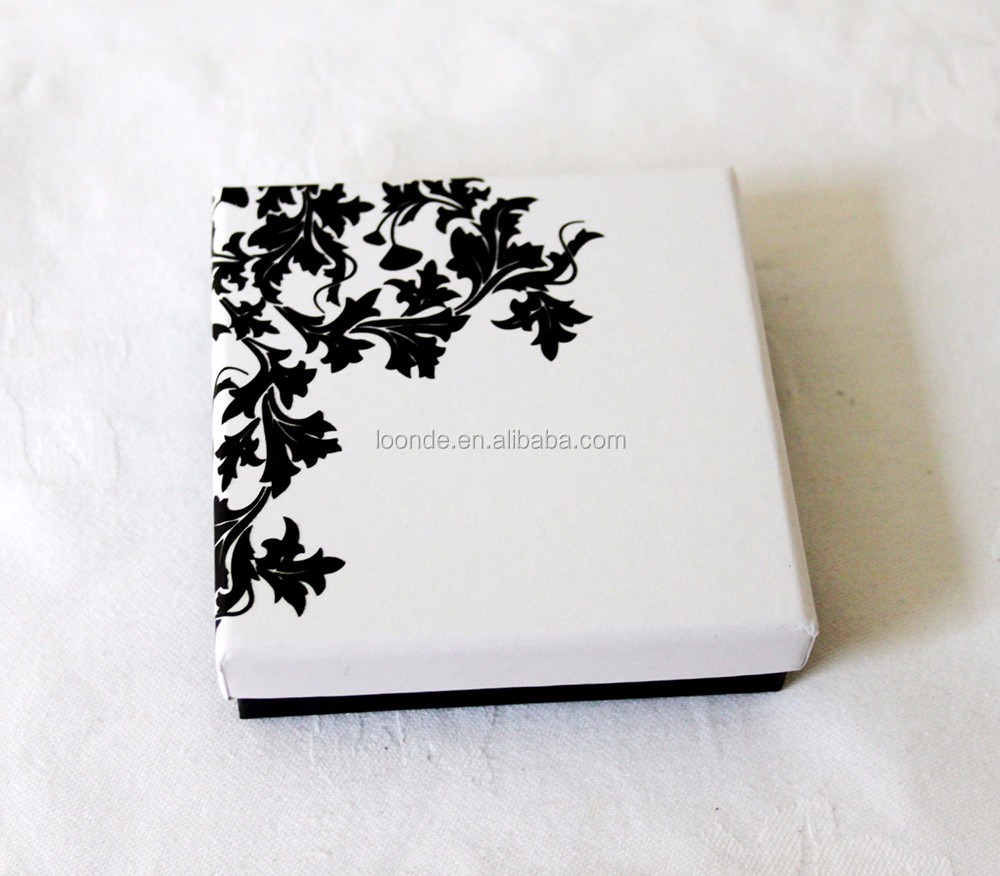 Custom floral printed premium pendant box or high end jewellery box
