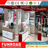 High grade cosmetic boutique store furniture, cosmetic display cabinet with painting