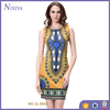 Casual Printed Lady Summer Polyester Designs Sleeveless Tube Dress for women