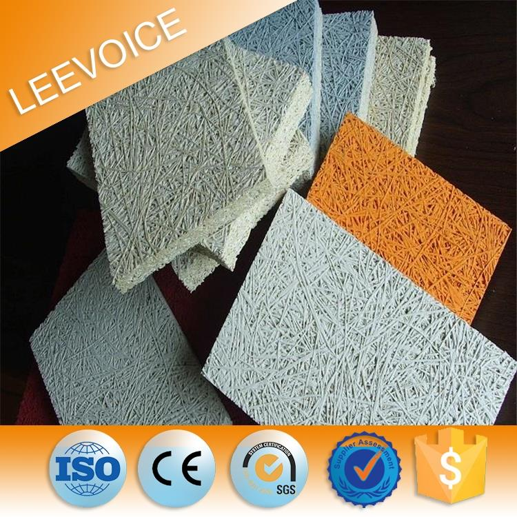 Natural Aspen Wood Wool Acoustic Panel Wood Fiber Sound Insulating Board