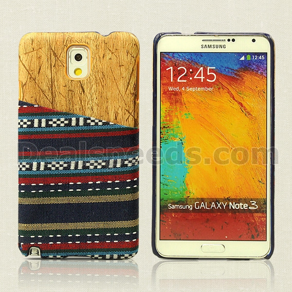 Tribal Pattern Process with half yellow PC Back slot Shell Cover for Sumsung Galaxy Note3/N9000/N9005