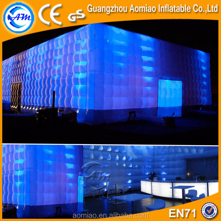 10x10m Large inflatable cheap wedding marquee tent with led light/party tent outdoor for sale
