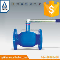 2015 TKFM water gas oil pipeline use 2 inch flange type bugatti ball valve hand