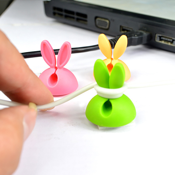 941 Boomray Factory Rabbit Ear phone accessories vending machine Cable Clips