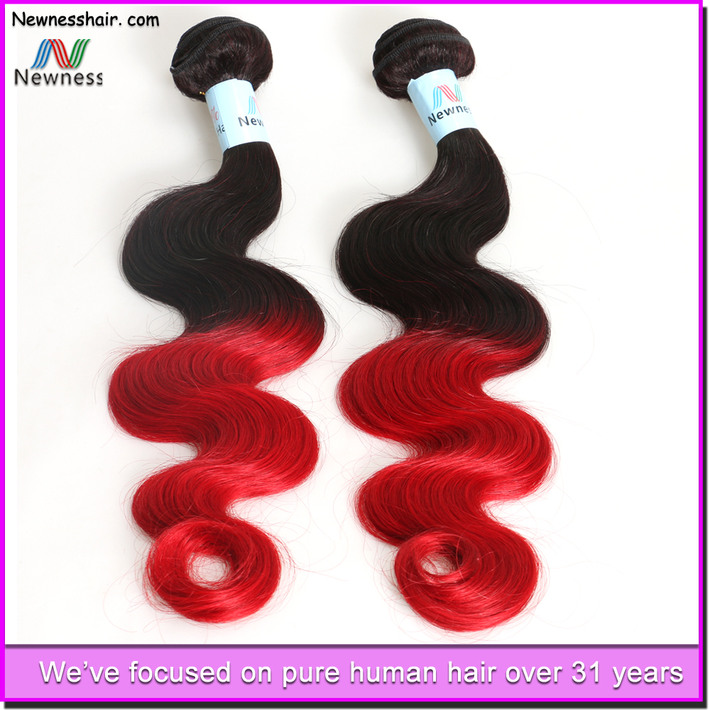 Brazilian Ombre Color Human Hair Extension Silk Straight Virgin Unprocessed Brazilian Human Hair Weaving Wholesale Price
