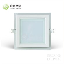 6W square led down light with glass cover